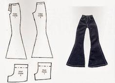 Camisas y pantalón para Barbie | labores de esther. todo para barbie