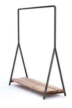Manipine.com   Wood & Steel Clothes Rail