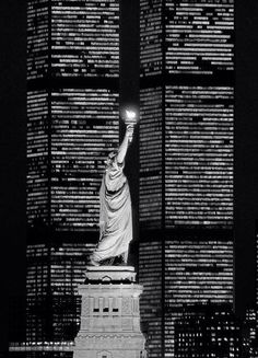 Twin Towers & Lady Liberty...muslims took our towers...and now their killing our liberty and the muslim in the white house is leading them.