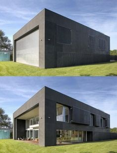 Zombie proof house? House for vampires? Either way I love it!