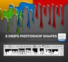 Drip Photoshop Vector Shapes   PSDDude