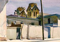 Edward Hopper (1882–1967)  St. Francis' Towers, Santa Fe, 1925