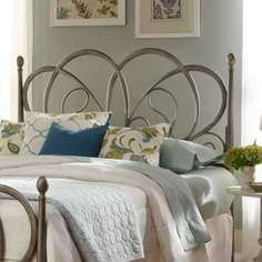 lizmore frosted silver headboard