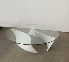 Verner Panton; Lacquered Wood and Glass Prototype Table, 1960s.