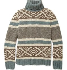 This Incotex Cowl Neck Sweater is 360 pounds (so about $700!!!!) but I NEED THIS! I think, though, that this is an easily thrifted look.