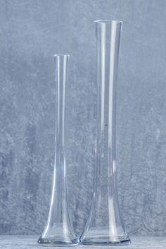 DX Event Rentals - Clear Larger Tower Vase