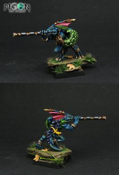 Lizardmen Skink Chief with Blowpipe