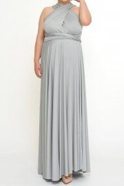 Gray Bridesmaid dresses Infinity Dresses from XXL to 5XL Plus size, perfect for the bigger lovely women.