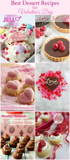 Best Dessert Recipes for Valentine's Day. Treat your Valentine with one of these!