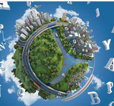 Free 3D #prezi template of planet Earth