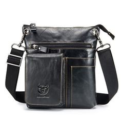 6f99c3f806dc US 46.58 - BULLCAPTAIN Vintage Genuine Leather Business Casual Crossbod  Cheap Crossbody Bags