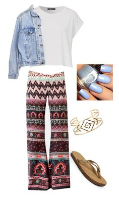"""Untitled #84"" by julia3smith on Polyvore featuring Rainbow, Levi's, Billabong and Stella & Dot"