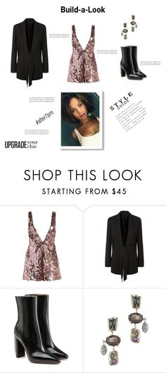 """""""Build the perfect look for your night-out. #testedandapproved"""" by beautymanifesting ❤ liked on Polyvore featuring Lost Ink, AllSaints, Vetements and Alexis Bittar"""