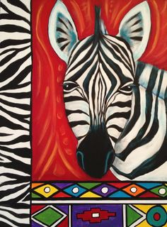 Trendy South African Art For Kids Children African, Art Painting, Animal Art, Painting, Animal Art Projects, Art, African Art Paintings, Zebra Art, Africa Art