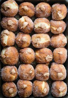 Pumpkin- and Chocolate-Stuffed Donuts