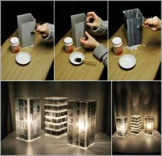 How to Make Unique Lamp Shade Using Old Photo Negatives #craft #decor