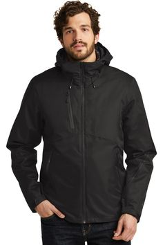 Mens 3-in-1 Jacket, Extremely Waterproof  #embroidery #CustomEmbroidery #ScreenPrinting #PortAuthorityClothing #ApronEmbroidery #CustomPolo #CustomLogo