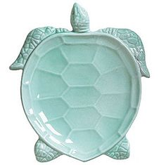 Incanto Mare Turtles Aqua Turtle Salad Plate 10 in L, 9 in W (Set of 4) | Gracious Style