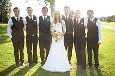 groomsmen with jeans | ... : Wedding Pictures Day 4: Bridesmaids, Groomsmen, and Flower Girls