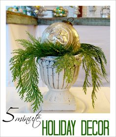 Quick, 5-minute #Christmas #Urn Decorating #Tip