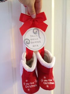 Baby shoe Christmas ornament