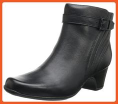 Clarks Women's Leyden Scale Bootie,Black Leather,10 M US - Boots for women (*Amazon Partner-Link)