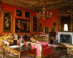 salon is decorated with Italian masters and furnishings from The Grand Tour