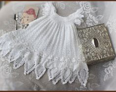Celestial del ganchillo bautizo vestido patrón por CrochetGarden