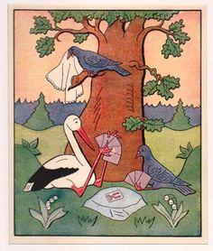 Karban v lese - litografie