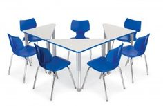 triangle student desks - Google Search