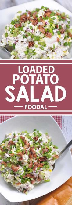 This loaded potato salad will the hit of the party at your next cookout. It's so versatile that it can be used from everything from Super Bowl parties and tailgating to a 4th of July bash. It tastes so good that it could even be used as a main meal!