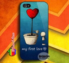 Love Heart Tree First Love Custom iPhone 5 Case Cover
