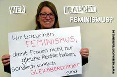 """""""Wir brauchen #Feminismus, damit Frauen nicht nur gleiche Rechte haben, sondern wirklich gleichberechtigt sind."""" (Claudia Dalbert)"""