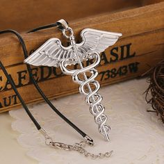 Euner® Euro-American Classical Movie Percy Jackson Necklace Vintage Angel Wing…