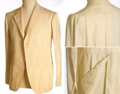 Naples, Mid 1930s.  Linen jacket cut by Vincenzo Attolini for London House (Rubinacci)