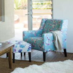 OZ Design Furniture - Blues, chair, lilypond, fabric