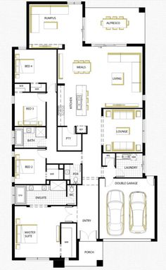 M s de 1000 ideas sobre planos de planta de casa en for Plantas arquitectonicas de casas