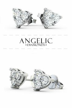Looking for some new stud earrings? These beautiful heart stud earrings with diamonds from work with every outfit! White Gold Jewelry, Diamond Jewelry, Diamond Earrings, Gold Jewellery, Best Diamond, Beautiful Earrings, Women's Earrings, Wedding Jewelry, Women Jewelry