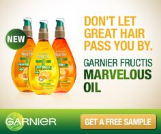 Request A FREE Garnier Marvelous Oil Sample! - http://dollartreesavings.com/request-a-free-garnier-marvelous-oil-sample/