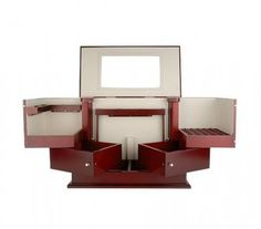 Deluxe Cosmetic Organizer by Lori Greiner Open