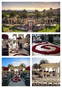 Something about those outdoor hotel weddings just gets us... (Red rose wedding at St. Regis Monarch Beach, CA)