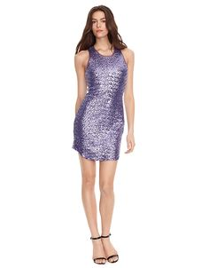 Sleeveless Sequin Racerback Dress | Lord and Taylor