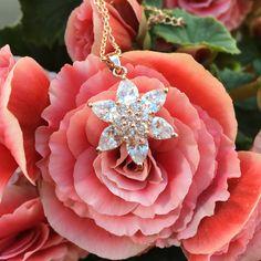 True North - Colier cu cristale zirconiu placat cu aur 18k rose