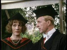 Harriet Vane and Lord Peter Wimsey at her college to give lectures on crime writing, from Gaudy Night