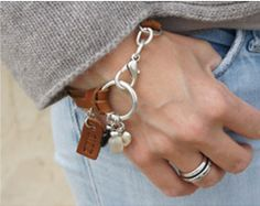 leather and silver bracelet - slightly equestrian and utterly gorgeous! gilian originals