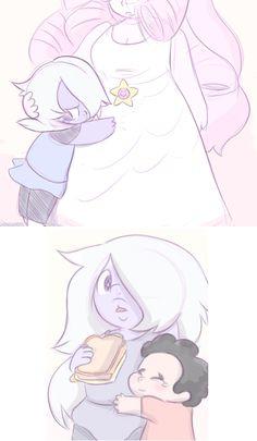 Rose(Steven)y amatista que monos
