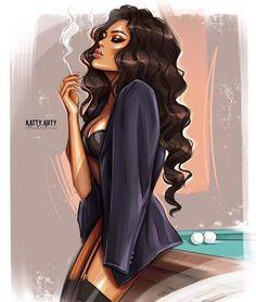 Dreams of Davao – king Art Black Love, Black Girl Art, Black Girl Magic, Art Girl, Cartoon Kunst, Cartoon Art, Black Cartoon, Selina Kyle Gotham, Art Sketches