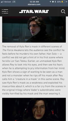 The significance of Kylo Ren's mask