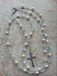 Swarovski Crystal & Pearl Rosaries   Www.lisacrystalcreations.etsy.com
