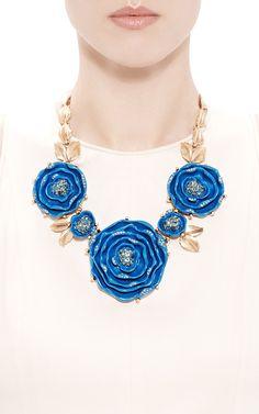 Rosebud Necklace by Oscar de la Renta - Moda Operandi